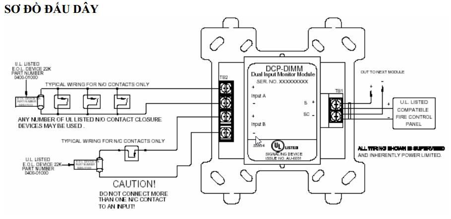 Mô đun giám sát 2 ngõ vào Hochiki DIMM