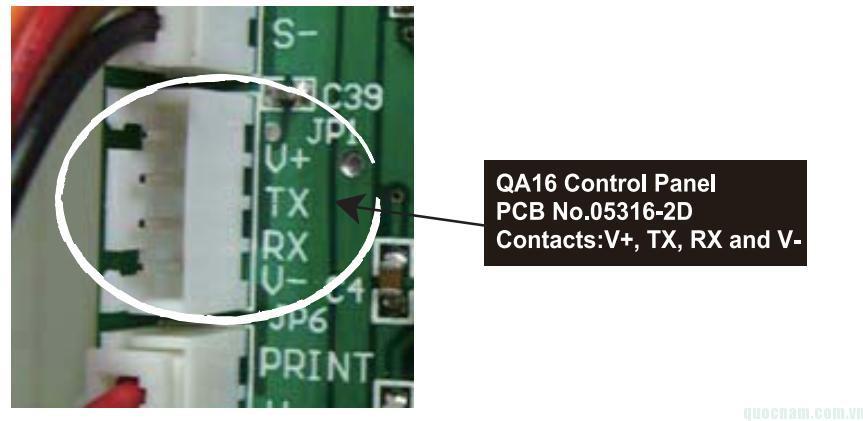 Ngõ kết nối trung tâm báo cháy địa chỉ QA 16 với PC