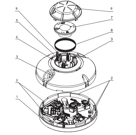 Sơ đồ đầu báo khói nhiệt kết hợp FD7160 Unipos