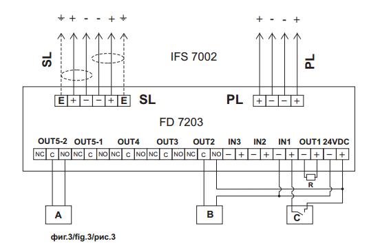 Sơ đồ module 3in/6out FD7203 Unipos