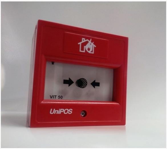 Nút nhấn khẩn báo cháy không dây VIT50 Unipos