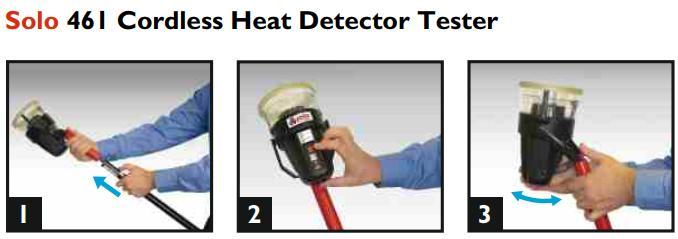 Solo 461 Thiết bị thử đầu báo nhiệt dùng pin