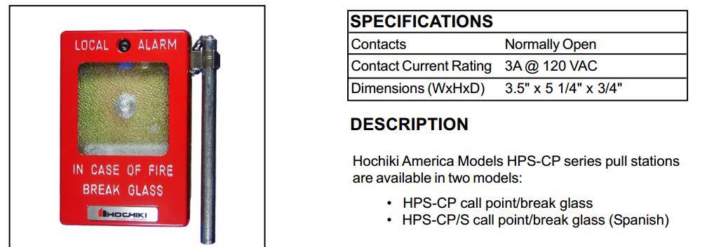 Hộp báo cháy bể kính HochikiHPS-CP