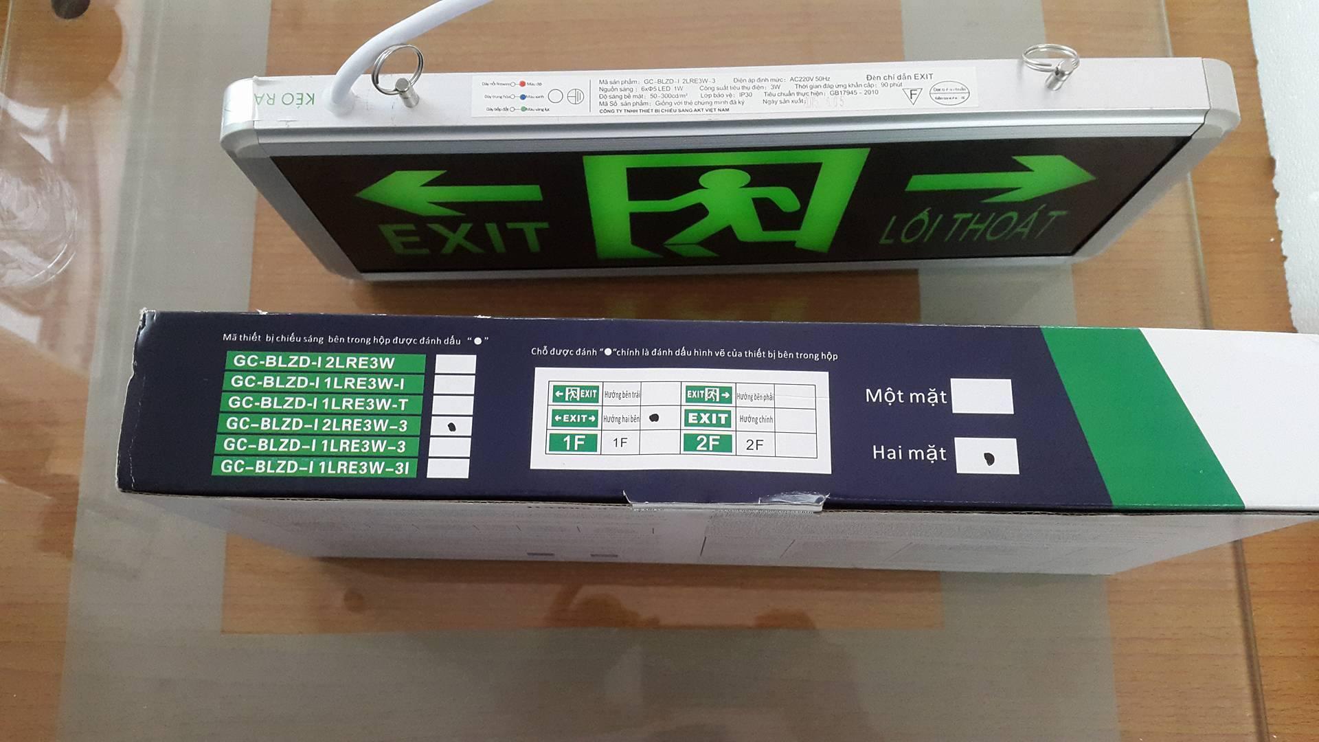 Đèn Exit chỉ hướng hai mặt AKT