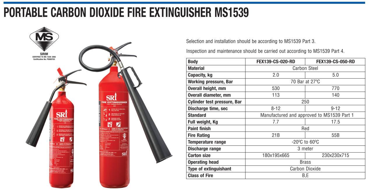Bình bột chữa cháy ABC 4kg SRI FEX132-MS-040-RD